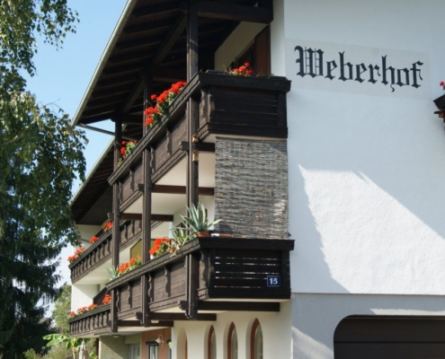 Hausansicht Apartments Weberhof