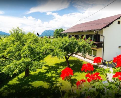 Haus Fritz mit Gartenansicht
